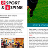 Sport & Spine Web Site